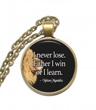Halsband Brons Silver Citat Quote Nelson Mandela Inspiration