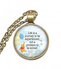 Halsband Brons Silver Nalle Puh Winnie the Pooh Citat Quote