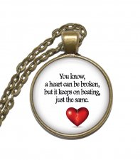 Halsband Fannie Flagg Citat Quote Broken Heart