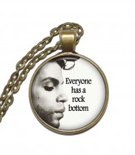 Halsband Brons Silver Citat Quote Prince King of Rock