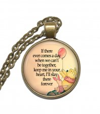 Halsband Brons Silver Citat Quote Nalle Puh Winnie the Pooh