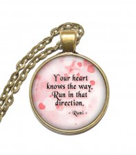 Halsband Brons Silver Citat Quote Rumi Inspiration Poet Mystiker