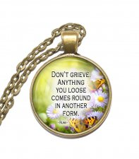 Halsband Brons Silver Citat Quote Rumi Inspiration Inspirational