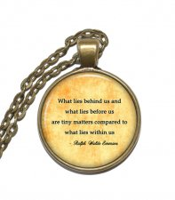 Halsband Brons Silver Ralph Waldo Emerson Citat Quote