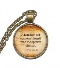 Halsband Tywin Lannister Game of Thrones Citat Quote