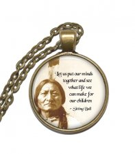 Halsband Sitting Bull Sioux Indian War Chief Hövding