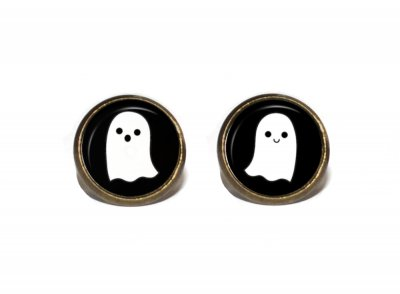 Örhängen Brons Halloween Nickelfria Stift Studs Spöken Ghosts